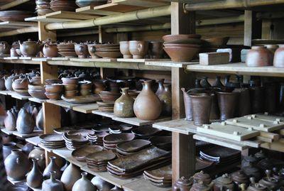 焼きあがった陶器