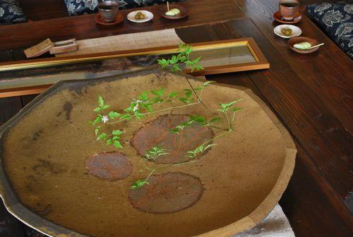 陶器の水盤