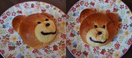 ティンカーベルのくまさんパン