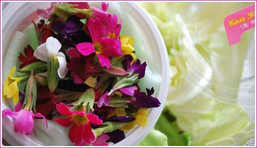 花のサラダ