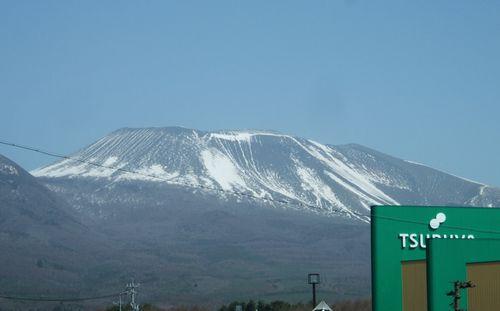 浅間山の雪形